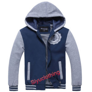 Mens 100%Cotton Hoody Fashion Casual Jacket Sweater (J-1627) pictures & photos