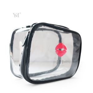 High Quality Lady Promotional Women Clear PVC Cosmetic Toiletry Makeup Bag pictures & photos