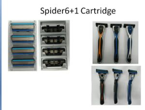6 Layers Blades Razor Handle with One Preicision Trimmer 6+1 Blade pictures & photos