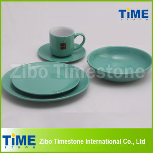Hot Sale Round Shape Ceramic Color Glazed Dinner Sets pictures & photos