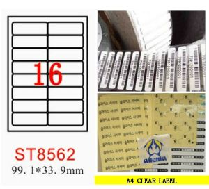 A4 Clear Label-St8562