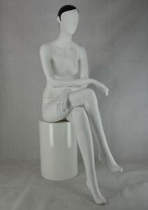 Sitting Matt White Female Dummy Mannequin with Hair pictures & photos