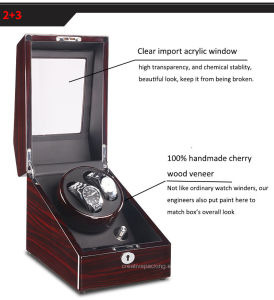 2+3 Black Wooden Automatic Watch Winder in High Gloss pictures & photos