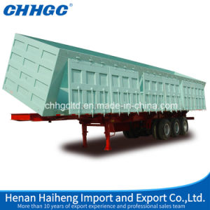 Sidewall Type and Side Dumper Full Trailer with Hydraulic Design pictures & photos