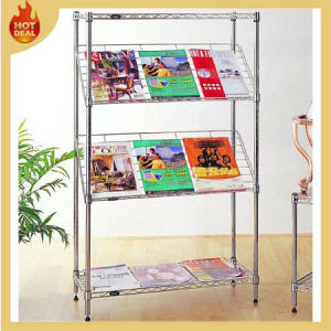 Chrome Metal Display Steel Storage Wire Mesh Rack pictures & photos