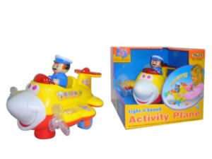 Funny Cartoon Plastic B/O Plane with Light (10121937) pictures & photos