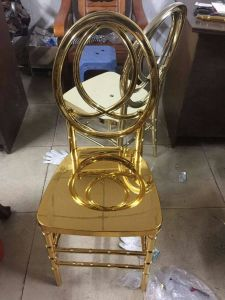 Shiny Gold Phoenix Chair, Wedding Event Infinity Chair pictures & photos