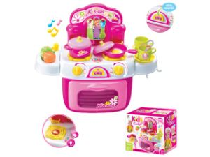 Girls Plastic Electric Pretend Play Set Kitchen Toy with Music and Light pictures & photos