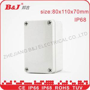 ABS Junction Box IP68, Grey Colour, Waterproof 80X110X70mm pictures & photos