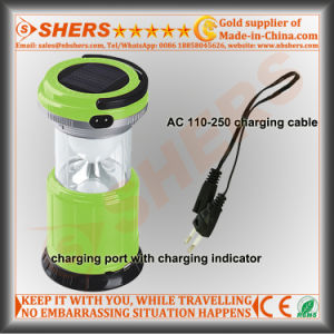 Extendable Solar 15 SMD LED Camping Lantern USB Outlet pictures & photos
