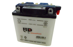 6n6-3b-1 6V 6ah Dry Charged Wented Motorcycle Battery