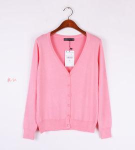 Women′s V-Neck Thin Cardigan Sweater Coat for Summer Anti-Sunborn 1566