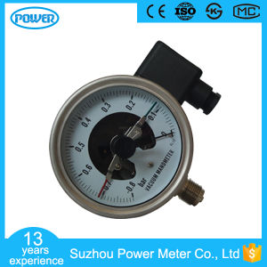 100mm Bottom Full Stainless Steel Vacuum Electric Contact Pressure Gauge pictures & photos