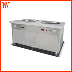 Thailand Double Flat Pan Fried Ice Cream Machine pictures & photos