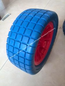 "13""X5.00-8 Polyurethane Foam Flatfree Wheel for Carts pictures & photos"