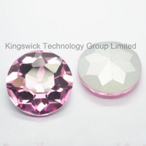Pink Sew on Round Glass Beads for Wedding Dress Wholesale pictures & photos