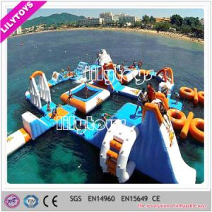Newest Best Blue Color PVC Inflatable Floating Water Game Summer Water Toys Inflatable Aqua Park for Adult (J-water park-130)