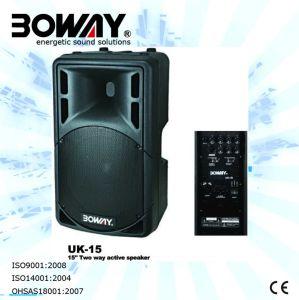 Hot-Sale 15 Inch Plastic Speaker (UK-15) pictures & photos
