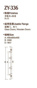 High Quality PVD Finish Door Handle (ZY-336) pictures & photos