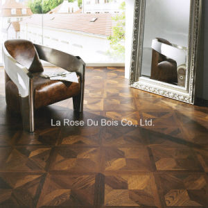 Carbonized Oak Wood Pattern Floors/Engineered Wooden Mosaic Flooring