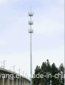 Galvanized Telecommunication Single Pole Steel Tower pictures & photos