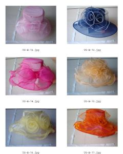 Min Big Brim Organza Hats
