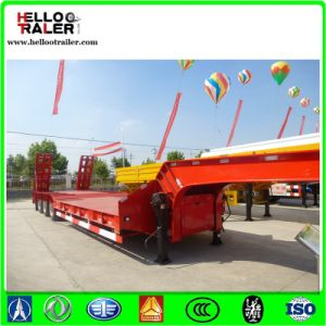 Machines and Equipments Transport 40 Ton Lowbed Semi Trailer pictures & photos