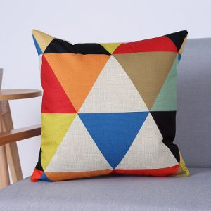 Digital Print Decorative Cushion/Pillow with Geometric Pattern (MX-76) pictures & photos