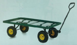 Pneumatic Wheeled Mesh Flatbed Platform Truck (TTFB) pictures & photos