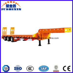 3 Axles 60-80tons Low Bed Trailer/Lowboy Utility Truck Semi Trailer pictures & photos