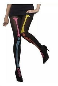 Halloween Bone&Pumpkin Design Black Pantyhose (WA003) pictures & photos