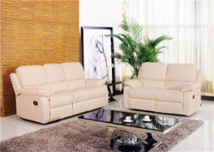 Italy Leather Sofa Sets Manual Function Furniture for Living Room Used pictures & photos