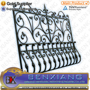Metel Fence Designs Wrought Iron Fence Power Coating Steel Fence pictures & photos