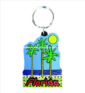 Souvenir PVC Keyring Crafts, Souvenir Rubber Keychain Gifts, PVC Souvenir Key Ring pictures & photos