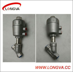 Steel Pneumatic Angle Seat Valve pictures & photos