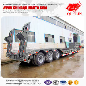 13m 3 Axle Low Bed Semitailer or Lowboy Semi Truck Trailer pictures & photos