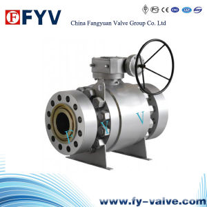API Flanged Trunnion Type Ball Valve pictures & photos