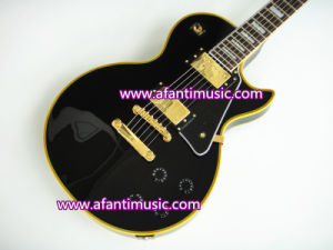 Afanti Music / Lp Custom Style / Black / Gold Parts / Electric Guitar (CST-083) pictures & photos