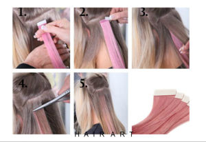 PU Double Tape Hair Extension with 100% Human Hair pictures & photos