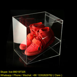 Transparent Acrylic Sneaker Shoe Display Box pictures & photos