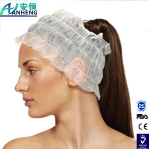 Tanning Accesories Disposable Pleated Headbands in Black or White pictures & photos