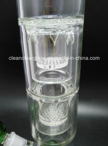 Large Size Mothership Glass Water Pipe Smoking Pipe with Three Layer Perc, for Wholesale! pictures & photos