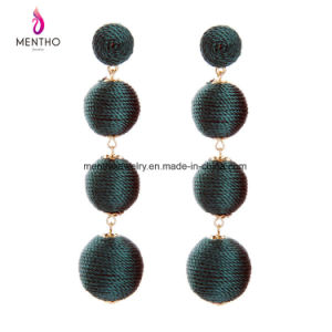 4 Colors New Fashion Popular Retro Long Wool Ball Tassel Women′s Earrings Jewelry pictures & photos
