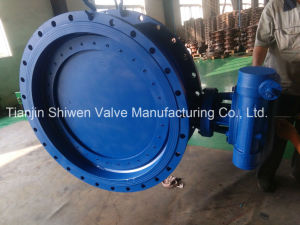 Triple Eccentric Metal Seat Flange Butterfly Valve with Gearbox Actuator pictures & photos