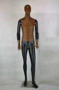 Fabric Covered Male Mannequin with Movable Wooden Hands pictures & photos