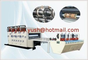 Full Automatic Flexo Printing Slotting Die-Cutting Stacking Machine pictures & photos