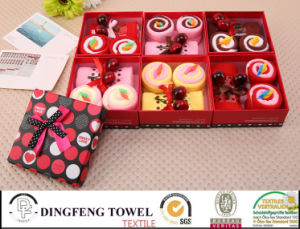 2015 New Season Design Wedding Cake Gift Towel Sets Df-2877 pictures & photos