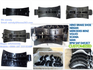 Truck and Trailer Brake Shoe with Brake Ling for Hino Nissan Benz Volvo pictures & photos