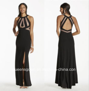 China Evening Dresses Halter Jersey Dress with Open Back pictures & photos