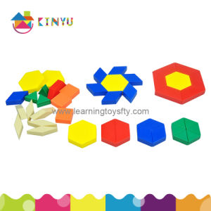 Educational Math Toy Plastic Hollow Pattern Blocks pictures & photos